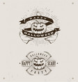 happy halloween logos vector image vector image