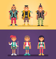 Hiking Concept Set of Flat Style Cartoon vector image vector image