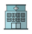 hospital building exterior icon vector image vector image