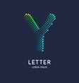 letter y latin alphabet display vector image vector image