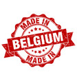 made in belgium round seal vector image vector image