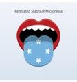 Micronesia language Abstract human tongue vector image vector image