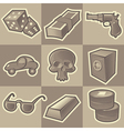 Monochrome gangsta icons vector | Price: 1 Credit (USD $1)