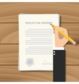 patent intellectual property paper vector image