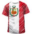 Peruvian tee vector image