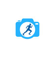 photography run logo icon design vector image vector image