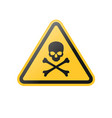 poison danger warning sign vector image vector image