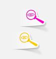realistic design element detective vector image