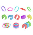 realistic detailed 3d color wristband set vector image vector image