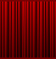 red theater curtain background for banner or vector image vector image