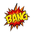 retro cartoon explosion pop art comic bang letter vector image vector image