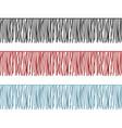 ruffles edge fringe seamless rows garments vector image