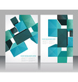 Set banners with 3d Cubes background vector image vector image