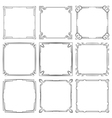set of square elegant frames vector image vector image