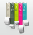 Show colorful paper roll promotional products vector image vector image