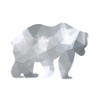 Silhouette a bear of geometric shapes vector image