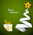 Simple green christmas card vector image vector image