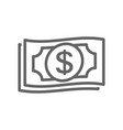 simple money line icon symbol and sign vector image