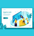 site creation working process vector image