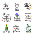 slogans for new year christmas posters for an vector image