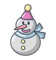 snowman icon cartoon style vector image vector image