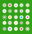 spring flover icons flat design flowers set on vector image vector image
