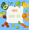 stickers with vegetables and fruits vector image