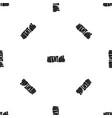 stonehenge pattern seamless black vector image vector image