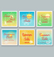 summer sale banner set vector image vector image