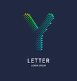 the letter y latin alphabet display vector image