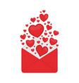 valentine day pink envelope vector image
