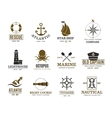 Vintage nautical marine sailing sea vessel vector image vector image