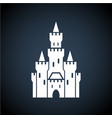 white castle symbol icon on dark background vector image