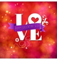 Valentines card design for a sweetheart vector image
