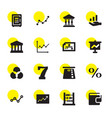16 finance icons vector image vector image