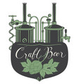 beer banner with production line retro brewery vector image vector image