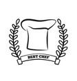 best chef title laurel branch vector image vector image