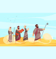 bible narratives moses composition vector image vector image