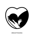 Breastfeeding logo isolated vector image