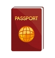 brown and yellow passport graphic vector image
