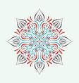 circle mandala design vector image vector image
