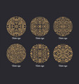 collection of beautiful round ornaments drawn with vector image