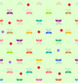 colorful bow and polka seamless pattern vector image
