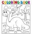 coloring book dinosaur theme 3 vector image vector image