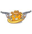 cowboy planet saturnus character cartoon vector image vector image