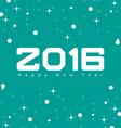 creative happy new year 2016 vector image vector image