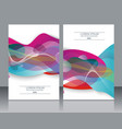 design templates for a4 covers banners flyers vector image vector image