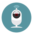 Digital white wi-fi and web camera icon