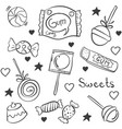 doodle candy various hand draw style vector image vector image