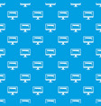 drawing monitor pattern seamless blue vector image vector image